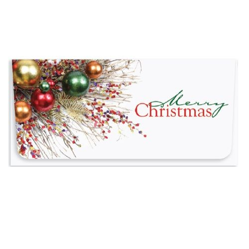 holiday currency envelopes merry christmas red design fce 170 - Merry Christmas Decorative Blocks