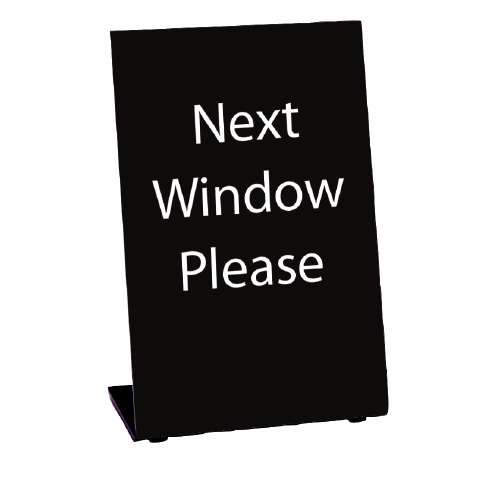 Counter Sign Next Window Please 6 X 9 Inch Block And