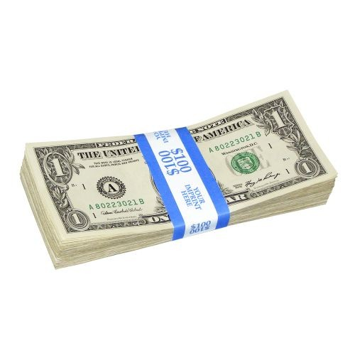 Currency Bands Solid Color Bar 100 Capacity Block