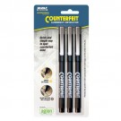 MMF Counterfeit Currency Detector Pen - 3 Pack