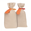 Cotton Duck Canvas Coin Shipping Bags - Flat Bottom