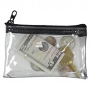 Clear-View Mini Zipper Wallet - Clear Vinyl, 4-1/2 x 3 Inch