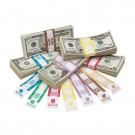 Currency Straps with ABA Color Bar & Denomination - White Kraft