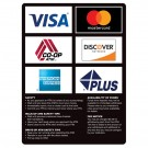 6 Logo ATM Card Acceptance Sign with Policies