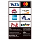 8 Logo ATM Card Acceptance Sign with Policies