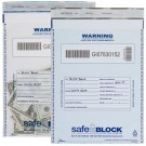 "10"" x 14""   Deposit Bags, White or Clear, 100 Per Box,  SAFEBLOCK®"