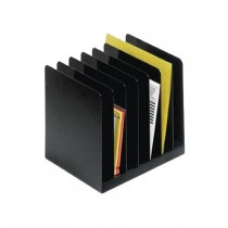 SteelMaster, 7-Compartment Message File, Black